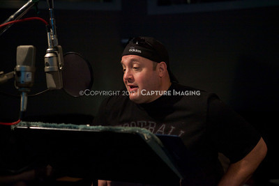 """1202025-013        CULVER CITY, CA - FEBRUARY 24: The Sony Pictures voice over session with Adam Sandler and Kevin James for """"Hotel Transylvania on February 24, 2012 in Culver City, California. (Photo by Ryan Miller/Capture Imaging)"""