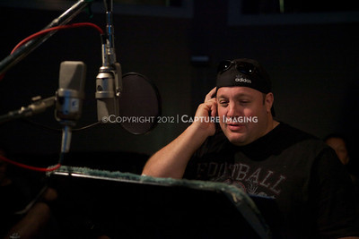 """1202025-026        CULVER CITY, CA - FEBRUARY 24: The Sony Pictures voice over session with Adam Sandler and Kevin James for """"Hotel Transylvania on February 24, 2012 in Culver City, California. (Photo by Ryan Miller/Capture Imaging)"""