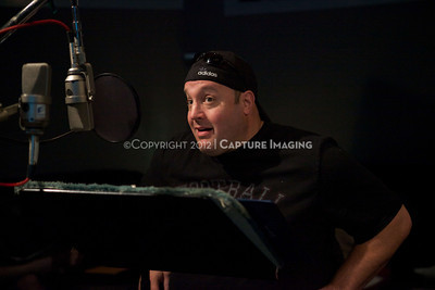 "1202025-014        CULVER CITY, CA - FEBRUARY 24: The Sony Pictures voice over session with Adam Sandler and Kevin James for ""Hotel Transylvania on February 24, 2012 in Culver City, California. (Photo by Ryan Miller/Capture Imaging)"