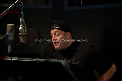 "1202025-012        CULVER CITY, CA - FEBRUARY 24: The Sony Pictures voice over session with Adam Sandler and Kevin James for ""Hotel Transylvania on February 24, 2012 in Culver City, California. (Photo by Ryan Miller/Capture Imaging)"