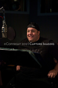 "1202025-019        CULVER CITY, CA - FEBRUARY 24: The Sony Pictures voice over session with Adam Sandler and Kevin James for ""Hotel Transylvania on February 24, 2012 in Culver City, California. (Photo by Ryan Miller/Capture Imaging)"