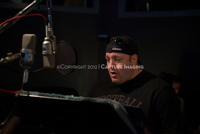 """1202025-024        CULVER CITY, CA - FEBRUARY 24: The Sony Pictures voice over session with Adam Sandler and Kevin James for """"Hotel Transylvania on February 24, 2012 in Culver City, California. (Photo by Ryan Miller/Capture Imaging)"""