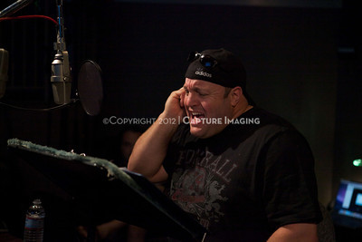 "1202025-042        CULVER CITY, CA - FEBRUARY 24: The Sony Pictures voice over session with Adam Sandler and Kevin James for ""Hotel Transylvania on February 24, 2012 in Culver City, California. (Photo by Ryan Miller/Capture Imaging)"