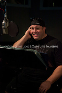 """1202025-009        CULVER CITY, CA - FEBRUARY 24: The Sony Pictures voice over session with Adam Sandler and Kevin James for """"Hotel Transylvania on February 24, 2012 in Culver City, California. (Photo by Ryan Miller/Capture Imaging)"""