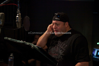 """1202025-032        CULVER CITY, CA - FEBRUARY 24: The Sony Pictures voice over session with Adam Sandler and Kevin James for """"Hotel Transylvania on February 24, 2012 in Culver City, California. (Photo by Ryan Miller/Capture Imaging)"""