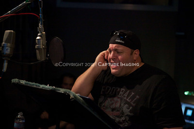 """1202025-047        CULVER CITY, CA - FEBRUARY 24: The Sony Pictures voice over session with Adam Sandler and Kevin James for """"Hotel Transylvania on February 24, 2012 in Culver City, California. (Photo by Ryan Miller/Capture Imaging)"""