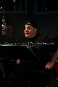 "1202025-020        CULVER CITY, CA - FEBRUARY 24: The Sony Pictures voice over session with Adam Sandler and Kevin James for ""Hotel Transylvania on February 24, 2012 in Culver City, California. (Photo by Ryan Miller/Capture Imaging)"