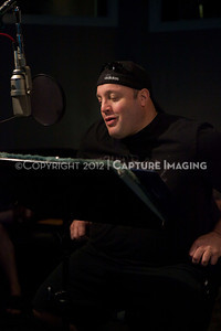"1202025-018        CULVER CITY, CA - FEBRUARY 24: The Sony Pictures voice over session with Adam Sandler and Kevin James for ""Hotel Transylvania on February 24, 2012 in Culver City, California. (Photo by Ryan Miller/Capture Imaging)"