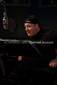 "1202025-017        CULVER CITY, CA - FEBRUARY 24: The Sony Pictures voice over session with Adam Sandler and Kevin James for ""Hotel Transylvania on February 24, 2012 in Culver City, California. (Photo by Ryan Miller/Capture Imaging)"