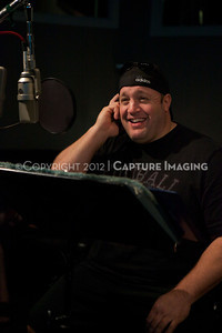 "1202025-006        CULVER CITY, CA - FEBRUARY 24: The Sony Pictures voice over session with Adam Sandler and Kevin James for ""Hotel Transylvania on February 24, 2012 in Culver City, California. (Photo by Ryan Miller/Capture Imaging)"
