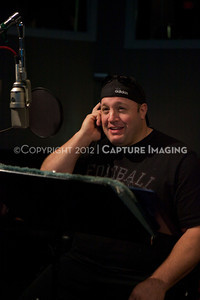 "1202025-010        CULVER CITY, CA - FEBRUARY 24: The Sony Pictures voice over session with Adam Sandler and Kevin James for ""Hotel Transylvania on February 24, 2012 in Culver City, California. (Photo by Ryan Miller/Capture Imaging)"