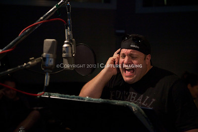 "1202025-029        CULVER CITY, CA - FEBRUARY 24: The Sony Pictures voice over session with Adam Sandler and Kevin James for ""Hotel Transylvania on February 24, 2012 in Culver City, California. (Photo by Ryan Miller/Capture Imaging)"