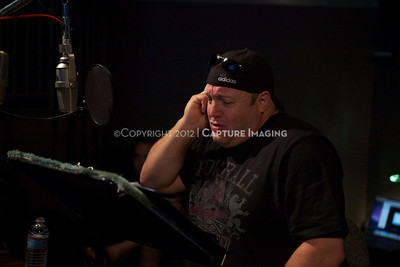 """1202025-043        CULVER CITY, CA - FEBRUARY 24: The Sony Pictures voice over session with Adam Sandler and Kevin James for """"Hotel Transylvania on February 24, 2012 in Culver City, California. (Photo by Ryan Miller/Capture Imaging)"""