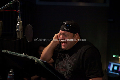 """1202025-036        CULVER CITY, CA - FEBRUARY 24: The Sony Pictures voice over session with Adam Sandler and Kevin James for """"Hotel Transylvania on February 24, 2012 in Culver City, California. (Photo by Ryan Miller/Capture Imaging)"""