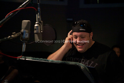 """1202025-025        CULVER CITY, CA - FEBRUARY 24: The Sony Pictures voice over session with Adam Sandler and Kevin James for """"Hotel Transylvania on February 24, 2012 in Culver City, California. (Photo by Ryan Miller/Capture Imaging)"""