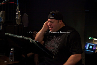 """1202025-034        CULVER CITY, CA - FEBRUARY 24: The Sony Pictures voice over session with Adam Sandler and Kevin James for """"Hotel Transylvania on February 24, 2012 in Culver City, California. (Photo by Ryan Miller/Capture Imaging)"""
