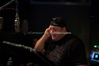 "1202025-038        CULVER CITY, CA - FEBRUARY 24: The Sony Pictures voice over session with Adam Sandler and Kevin James for ""Hotel Transylvania on February 24, 2012 in Culver City, California. (Photo by Ryan Miller/Capture Imaging)"