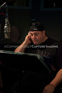 """1202025-004        CULVER CITY, CA - FEBRUARY 24: The Sony Pictures voice over session with Adam Sandler and Kevin James for """"Hotel Transylvania on February 24, 2012 in Culver City, California. (Photo by Ryan Miller/Capture Imaging)"""