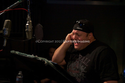 "1202025-039        CULVER CITY, CA - FEBRUARY 24: The Sony Pictures voice over session with Adam Sandler and Kevin James for ""Hotel Transylvania on February 24, 2012 in Culver City, California. (Photo by Ryan Miller/Capture Imaging)"
