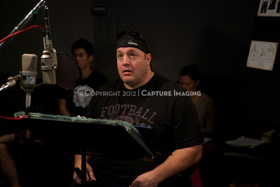 "1202025-001        CULVER CITY, CA - FEBRUARY 24: The Sony Pictures voice over session with Adam Sandler and Kevin James for ""Hotel Transylvania on February 24, 2012 in Culver City, California. (Photo by Ryan Miller/Capture Imaging)"