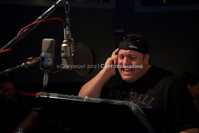 """1202025-031        CULVER CITY, CA - FEBRUARY 24: The Sony Pictures voice over session with Adam Sandler and Kevin James for """"Hotel Transylvania on February 24, 2012 in Culver City, California. (Photo by Ryan Miller/Capture Imaging)"""