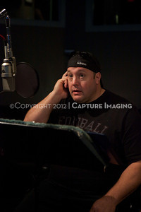 "1202025-005        CULVER CITY, CA - FEBRUARY 24: The Sony Pictures voice over session with Adam Sandler and Kevin James for ""Hotel Transylvania on February 24, 2012 in Culver City, California. (Photo by Ryan Miller/Capture Imaging)"