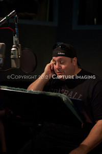 "1202025-003        CULVER CITY, CA - FEBRUARY 24: The Sony Pictures voice over session with Adam Sandler and Kevin James for ""Hotel Transylvania on February 24, 2012 in Culver City, California. (Photo by Ryan Miller/Capture Imaging)"