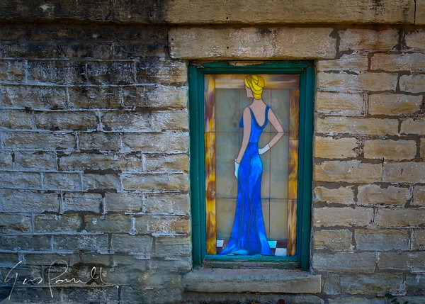 Glass window girl