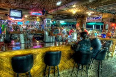 People enjoy dining inside Oceanfront Bar & Grill on the Boardwalk in Myrtle Beach, SC on Saturday, June 9, 2012. Copyright 2012 Jason Barnette