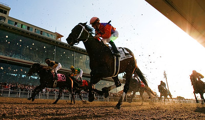 My Pal Charlie (Indian Charlie), under Julien Leparoux, places in the Louisiana Derby at Fairgrounds. 3.08.2008