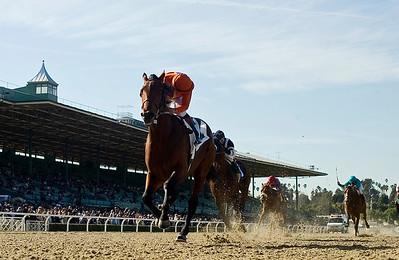 Crown of Thorns with Victor Espinoza up wins the Robert B. Lewis Memorial Stakes at Santa Anita Park, Arcadia CA February 2, 2008