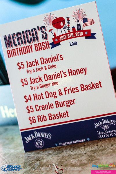My Drink On along with Night Society, and Gentleman Jack bring you Merica's Birthday Bash Pubcrawl on Washington Ave