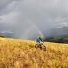 A mountain biker near Telluride Colorado