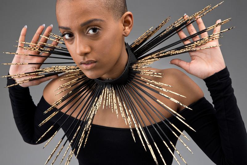 Selena Cochran - necklace, Bas Tamiet - model