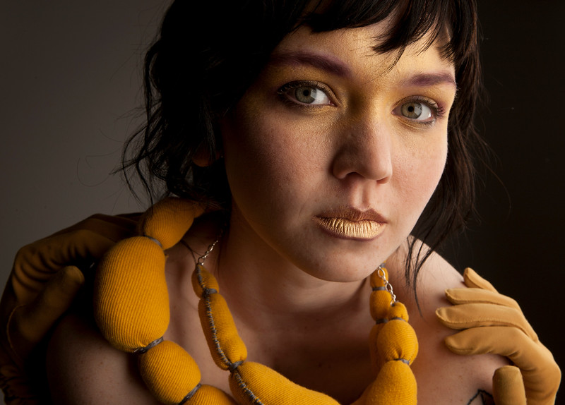 Erica Voetsch - necklace, Emma Olson model