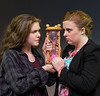 "Naomi Medley, left, and Annie Craven play a teenager and her mother who switch bodies in Teen Musical Theater of Oregon's production of ""Freaky Friday.""  Photo by Jim Craven/www.jimcravenphoto.com"
