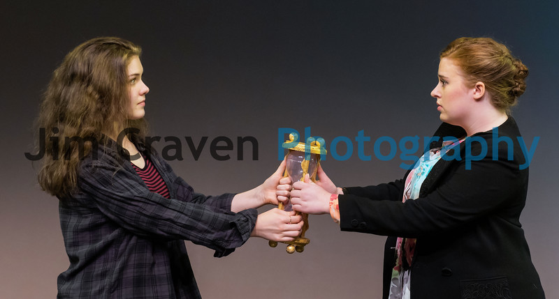 """Naomi Medley, left, and Annie Craven play a teenager and her mother who switch bodies in Teen Musical Theater of Oregon's production of """"Freaky Friday.""""  Photo by Jim Craven/www.jimcravenphoto.com"""
