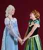 Kaiya Bagley, left, plays Elsa, and Sarah Metwally plays Anna, in Teen Musical Theater of Oregon's production of Frozen, Jr. Photo by Jim Craven/www.jimcravenphoto.com