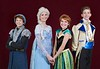 From left, Christopher Kranenburg, as Kristoff, Kaiya Bagley, as Elsa, Sarah Metwally, as Anna, and Will Sayler, as Hans, star in Teen Musical Theater of Oregon's production of Frozen, Jr. Photo by Jim Craven/www.jimcravenphoto.com