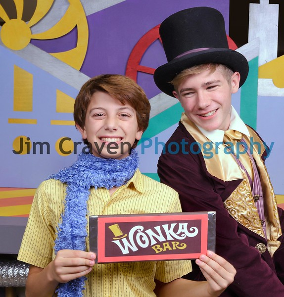 """Christopher Kranenburg plays Charlie Bucket and Grayson Weaver plays Willy Wonka in the Teen Musical Theater of Oregon's production """"Willy Wonka."""" Photo by Jim Craven/www.jimcravenphoto.com"""