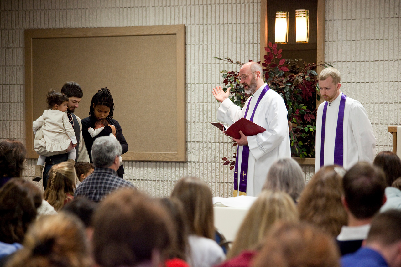 The baptism of Ezra Penney at Trinity Reformed Chruch in December 2009