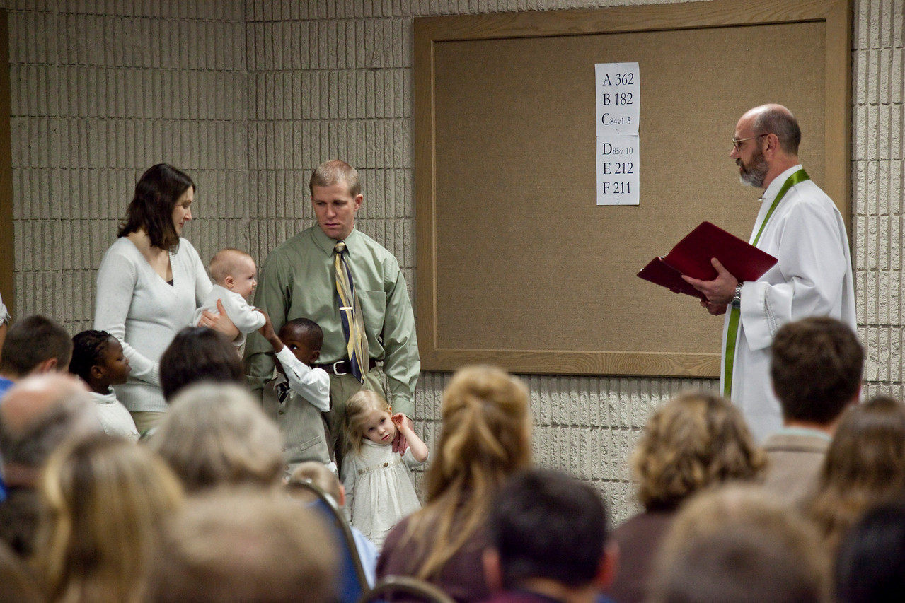 Another Trinity Reformed Church baptism.
