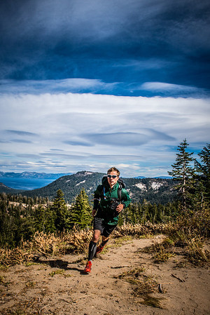 Adam Broderick Trail Running around Lake Tahoe, CA