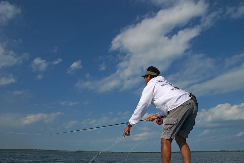 Tarpon fishing on Isla Holbox, Mexico