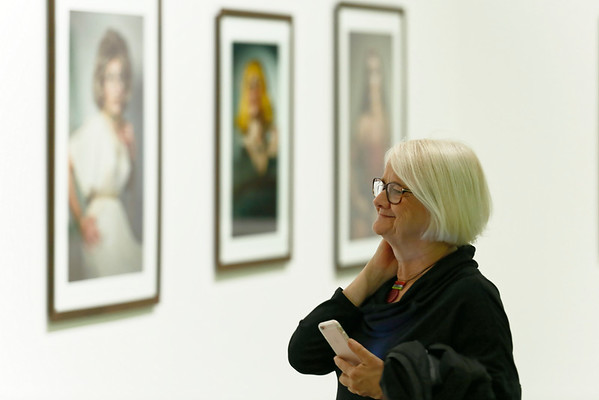 """""""Cindy Sherman: Imitation of Life"""" opening day at The Broad museum, 11 June, 2016, Los Angeles"""