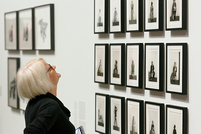 """Cindy Sherman: Imitation of Life"" opening day at The Broad museum, 11 June, 2016, Los Angeles"