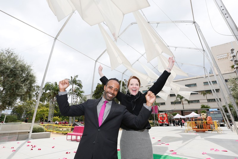 "The Music Center launches ""Paper Airplane"" in Grand Park"