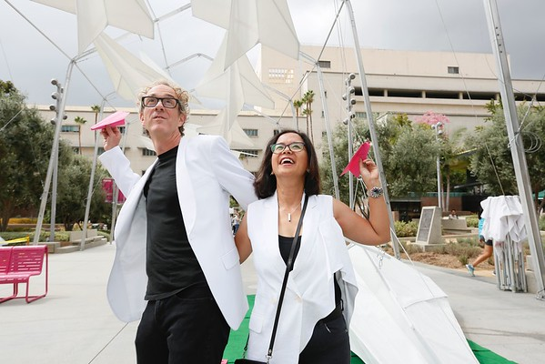 """The Music Center launches """"Paper Airplane"""" in Grand Park"""