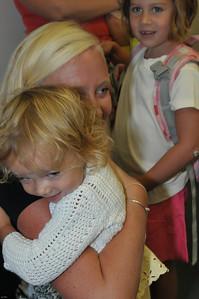 Jocie greets Jessamyn's new teacher... soon enough, Jocie will be here too...