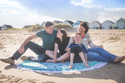 Family Photography at Mudeford Beach